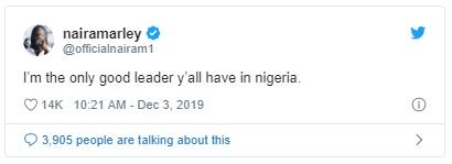 I'm The Only Good Leader Nigerians Have — Naira Marley