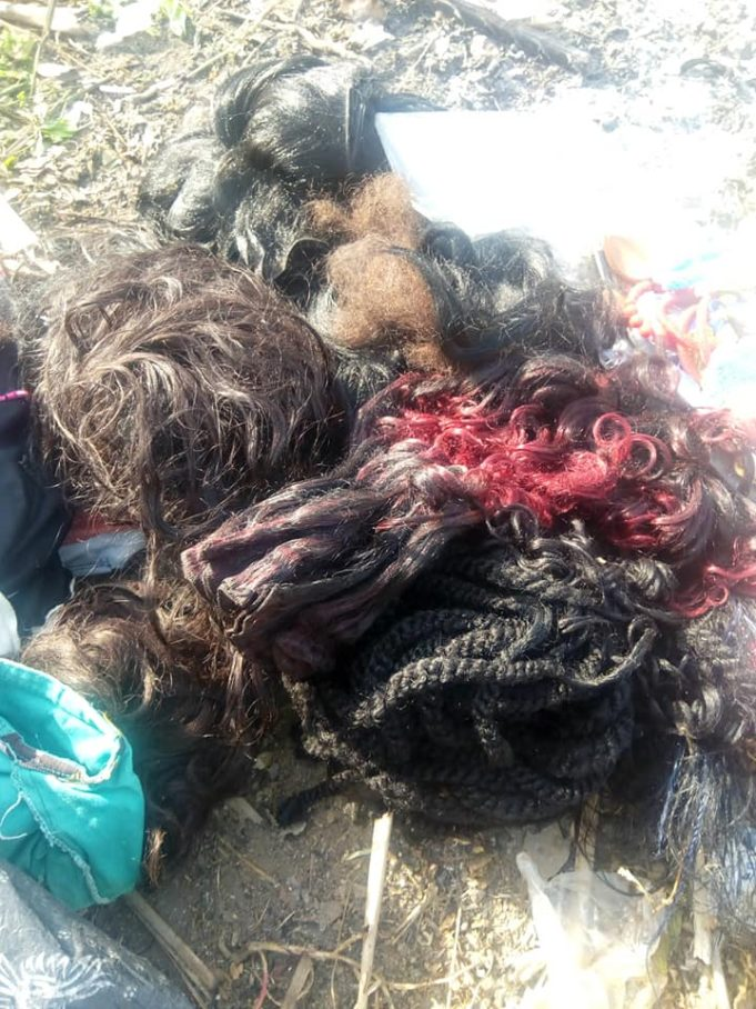 Nigerian Lady Burns Her Makeup Kit, Wigs & Trousers As She Gives Her Life To Christ (Photos)