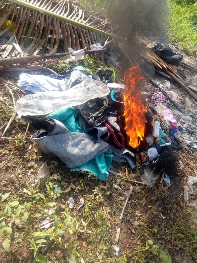 Nigerian Lady Burns Her Makeup Kit, Wigs & Trousers As She Gives Her Life To Christ (Photos) 9