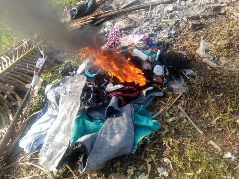 Nigerian Lady Burns Her Makeup Kit, Wigs & Trousers As She Gives Her Life To Christ (Photos) 11