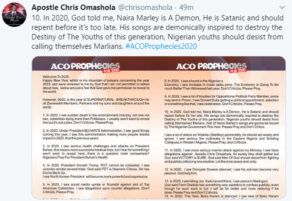 God Told Me Naira Marley Is A Demon, He Has To Repent Before It's Too Late - Apostle Chris Omashola 9