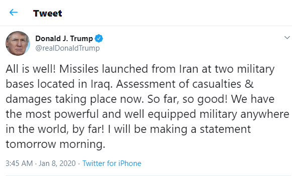 Iran Fires Over 12 Missiles At US Military Bases In Iraq, Threatens To Attack Dubai, Israel If US Responds 6
