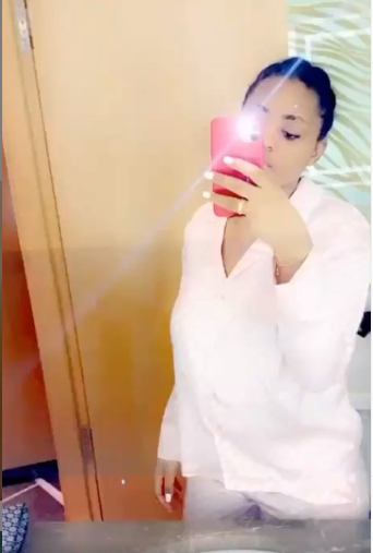 Regina Daniels Appears Pregnant In New Bathroom Videos 3
