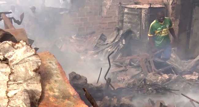 Over 400 Shops Razed Down By Fire In Anambra (Photos)
