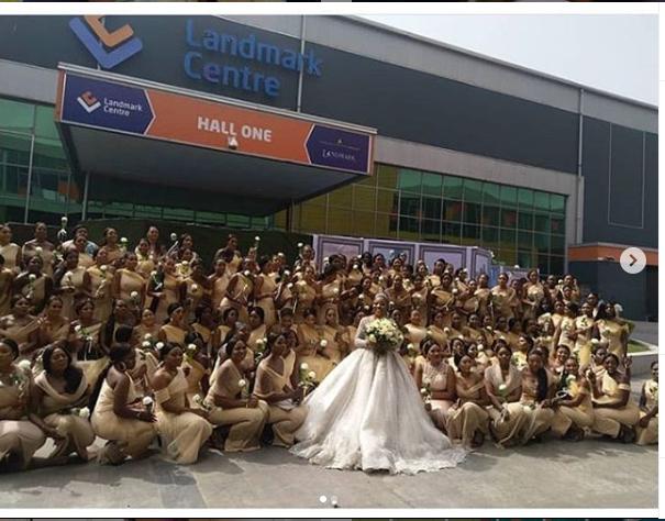 Sandra Ikeji Weds With 200 Bridesmaids (Photos)