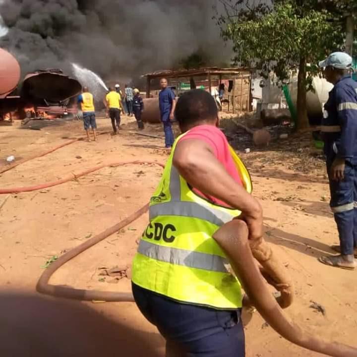 Tanker Explodes Inside Mechanic Workshop In Anambra (Photos) 2