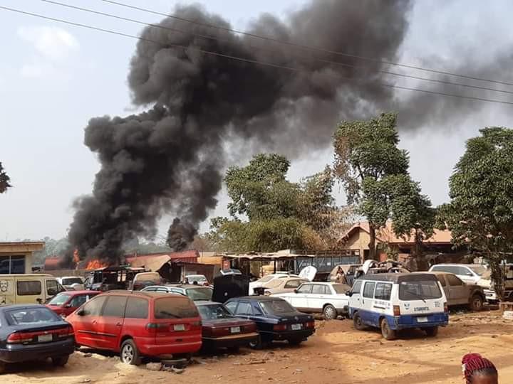 Tanker Explodes Inside Mechanic Workshop In Anambra (Photos) 3