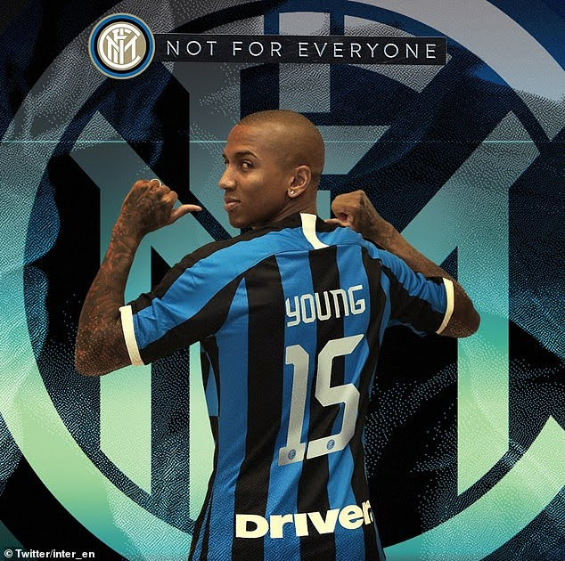 Inter Milan Signs Ashley Young From Manchester United For £1.5Million