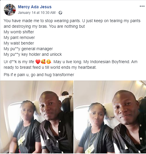 'My Womb Shifter, My Pant Remover, My Waist Bender' — Nigerian Lady Showers Praises On Boyfriend 8
