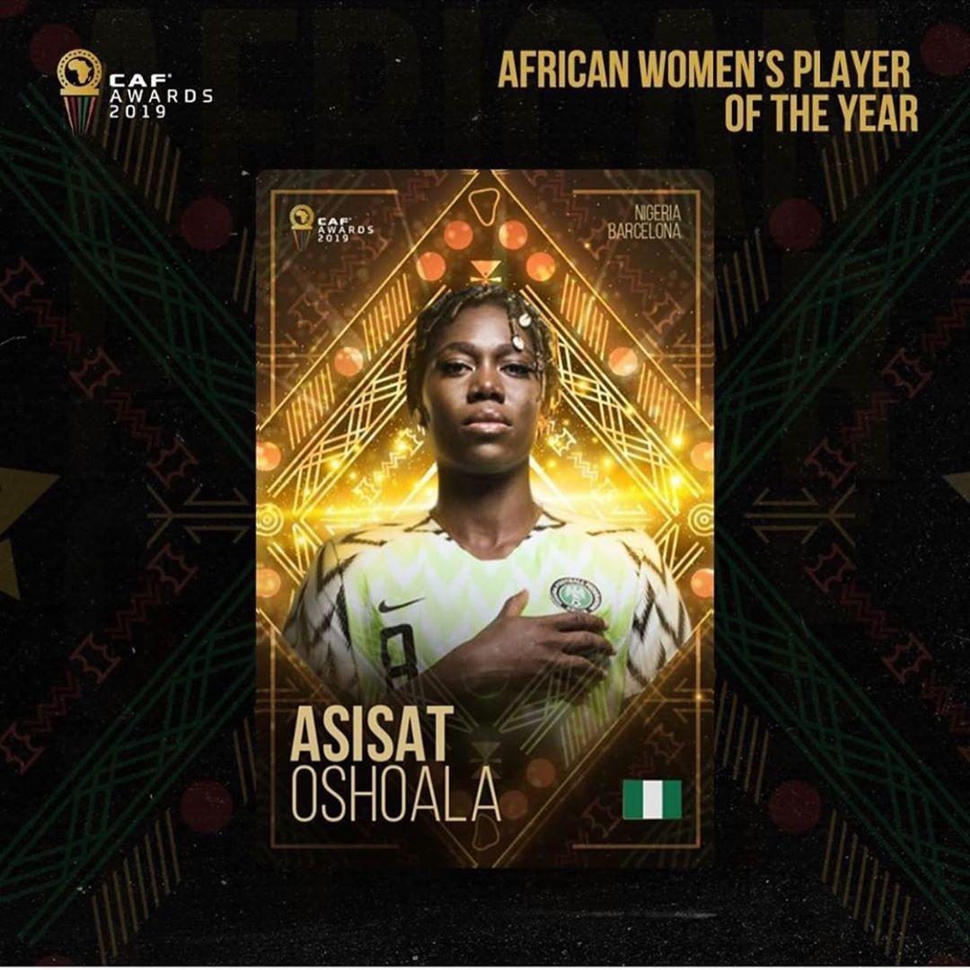 Asisat Oshoala Wins 2019 CAF Women's Best Player