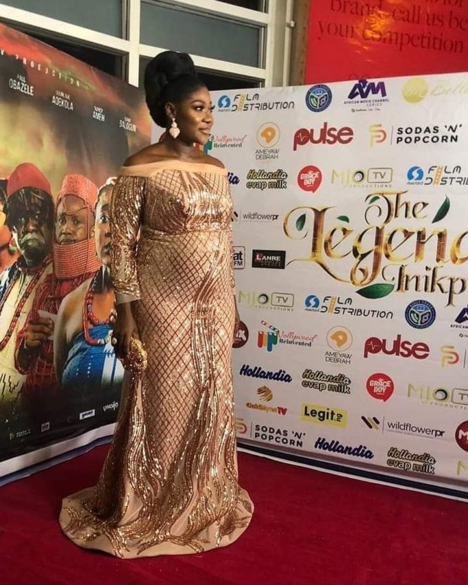 Mercy Johnson Shows Off Her Growing Baby Bump As She Steps Out For The Premiere Of Her First Directorial Movie 6