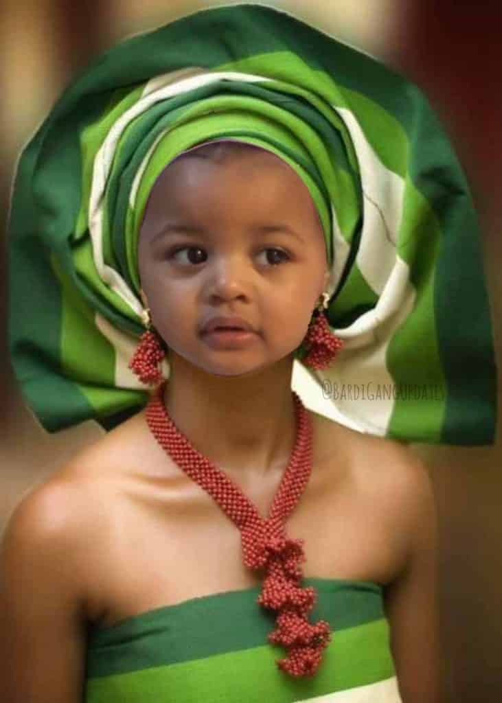 Cardi B Reacts To Photoshopped Picture Of Her Daughter In Yoruba Outfit 3
