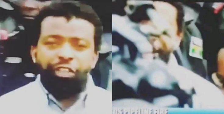 Channels TV reporter pushed his colleague who obstructed him during a live TV coverage (Video)