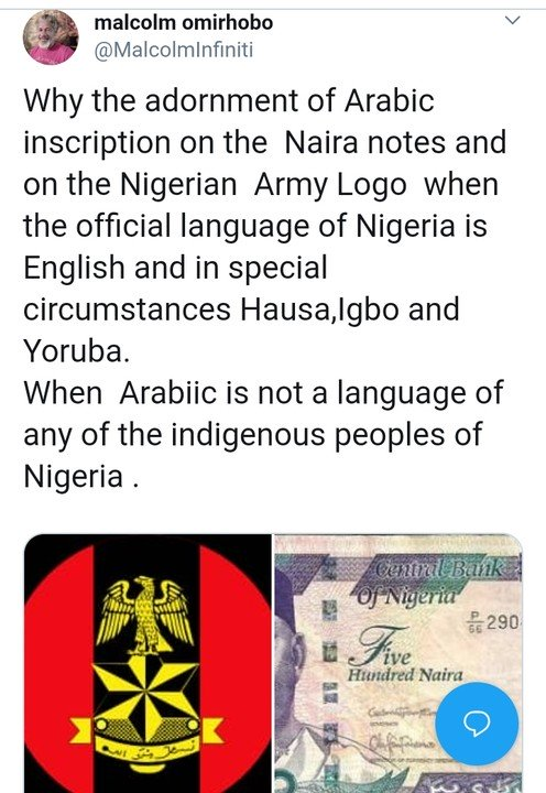 Lawyer Sues FG, CBN, AGF Over Arabic Inscription On Naira, Army Logo
