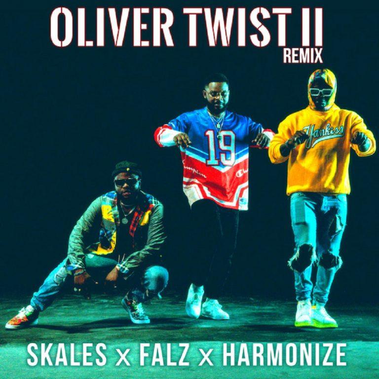 Skales Ft. Falz, Harmonize – Oliver Twist (Remix)