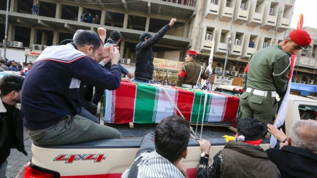 'Death To America' Chants Heard During Soleimani's Burial 3