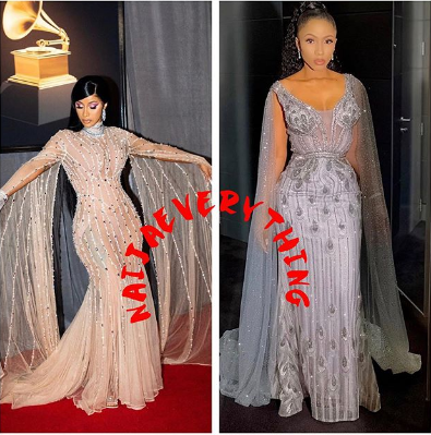 Cardi B Allegedly 'Stole' The Outfit She Wore To Grammy From Mercy Eke