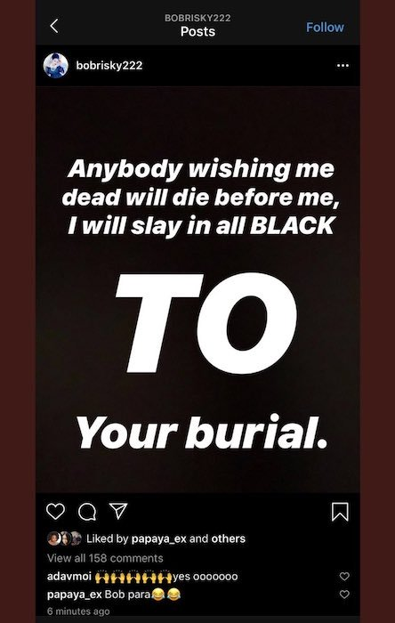 Bobrisky Reacts To News Of His Death 9