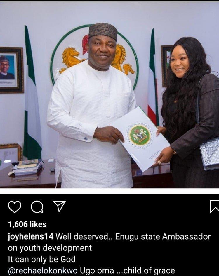 Rachael Okonkwo Becomes Enugu State Ambassador On Youth Development