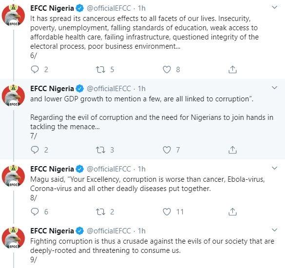 Magu Never Said Coronavirus Is Caused By Corruption — EFCC