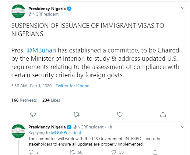 Buhari Reacts To Addition Of Nigeria Into US Travel Ban List