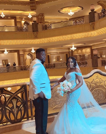 Davido's Brother, Adewale Adeleke Holds White Wedding in Abu Dhabi (Photos/Videos)
