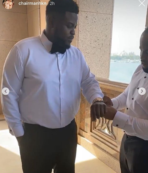 Davido's Brother, Adewale Adeleke Holds White Wedding in Abu Dhabi (Photos/Videos) 16