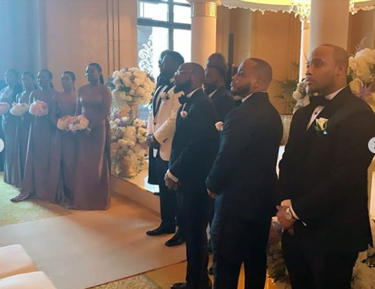 Davido's Brother, Adewale Adeleke Holds White Wedding in Abu Dhabi (Photos/Videos) 17