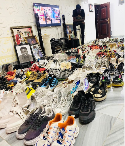 Comedian, Akpororo Shares Photo Of His Shoe Collection 3