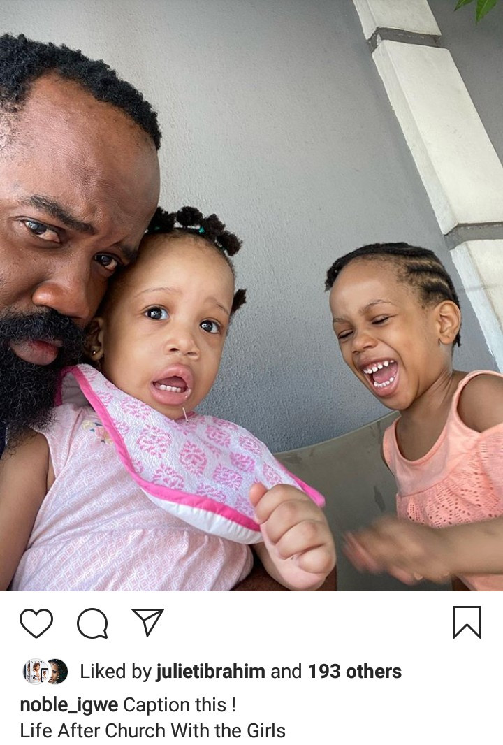 Noble Igwe Shares Photos Of His Daughters
