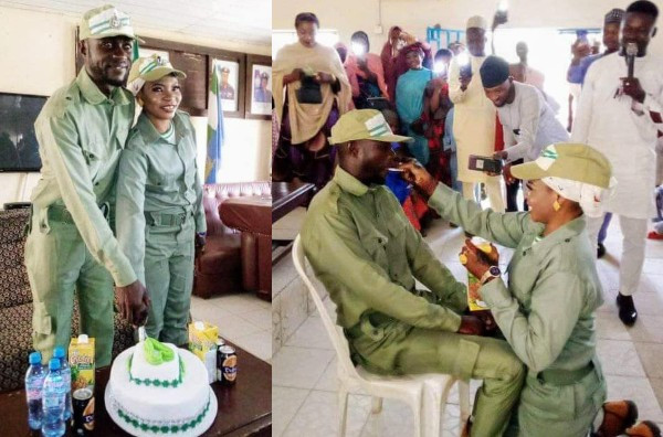 Serving Corps Members Get Married In NYSC Uniform (Photos)