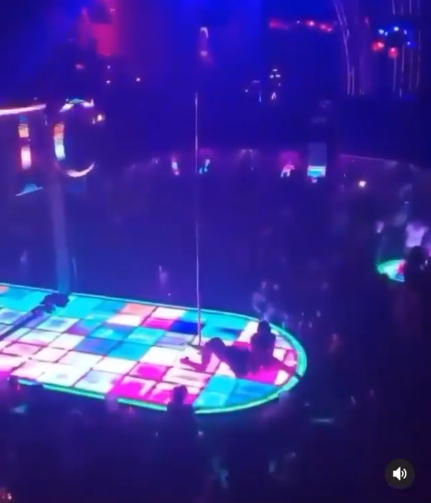 stripper falls from high pole while dancing (video)