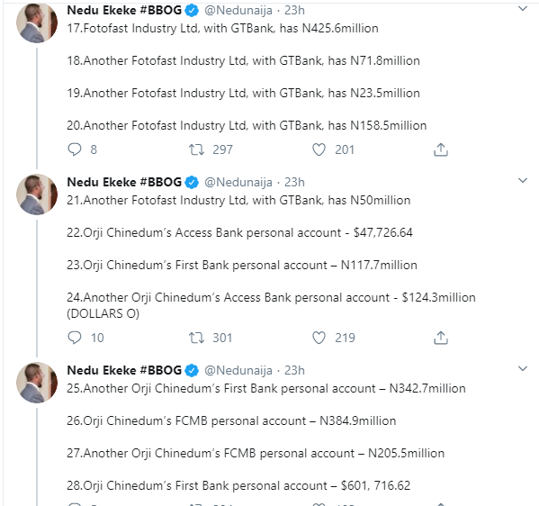 Former Governor T.A Orji And Son Quizzed By EFCC Over Alleged Theft Of Billions Of Naira...See Accounts Traced To Son And All The Money Inside 16