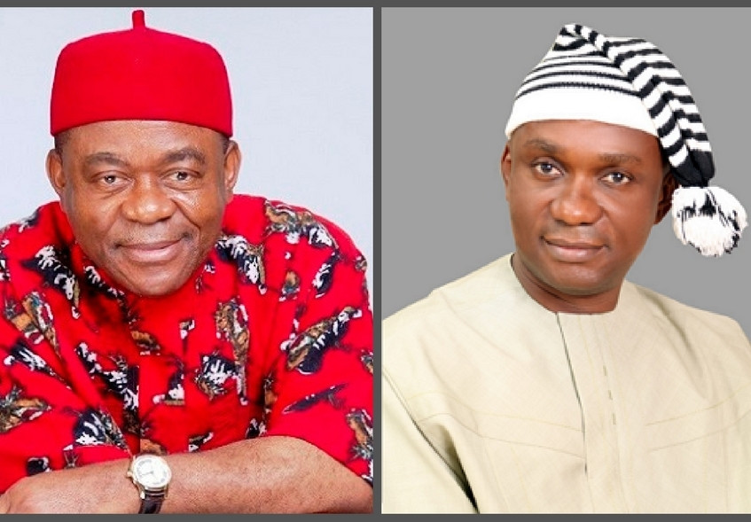 Former Governor T.A Orji and son Quizzed By EFCC Over Alleged Theft Of Billions Of Naira...See Accounts Traced To Son And All The Money Inside