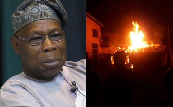 Obasanjo's House Partly Razed By Fire