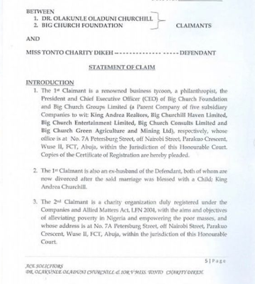Churchill Sues Ex-Wife Tonto Dikeh For N500M 17