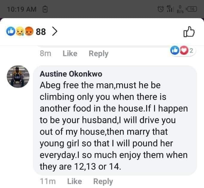 Nigerian Man Reveals He Loves Sleeping With 12, 13 And 14-Year-Old Girls