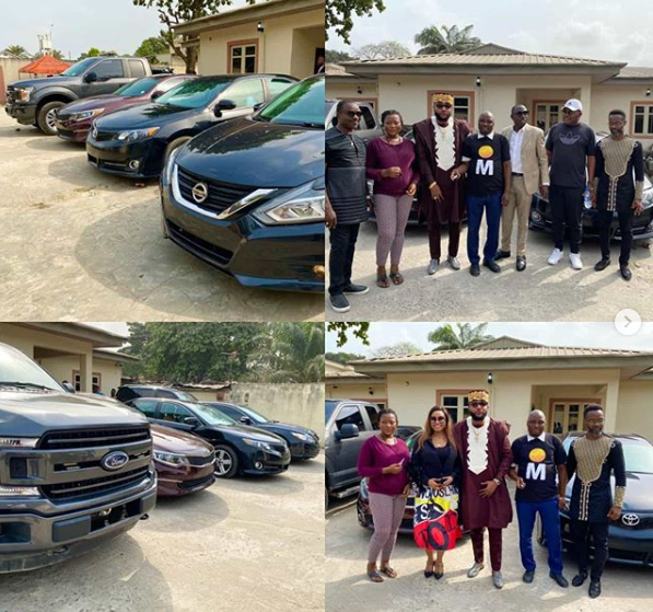 E-Money Gifts Cars To His Staff On His Birthday (Photos)