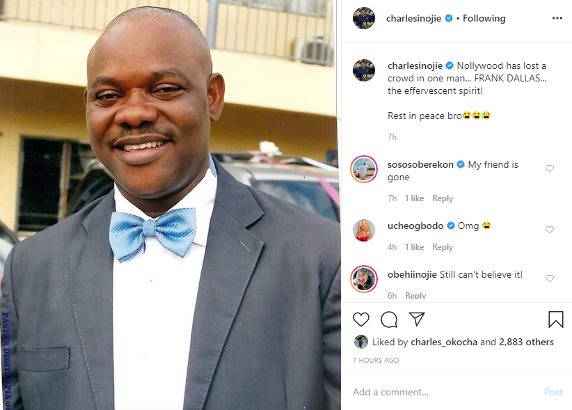 Nollywood has lost veteran actor - Frank Dallas.