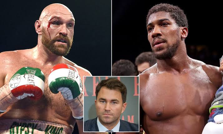 Anthony Joshua Wants To Fight Tyson Fury Next — AJ's Agent, Eddie Hearn