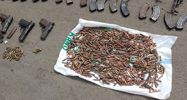 43 Rifles & 1,117 Ammunition Recovered From Bauchi Forest (Photos)