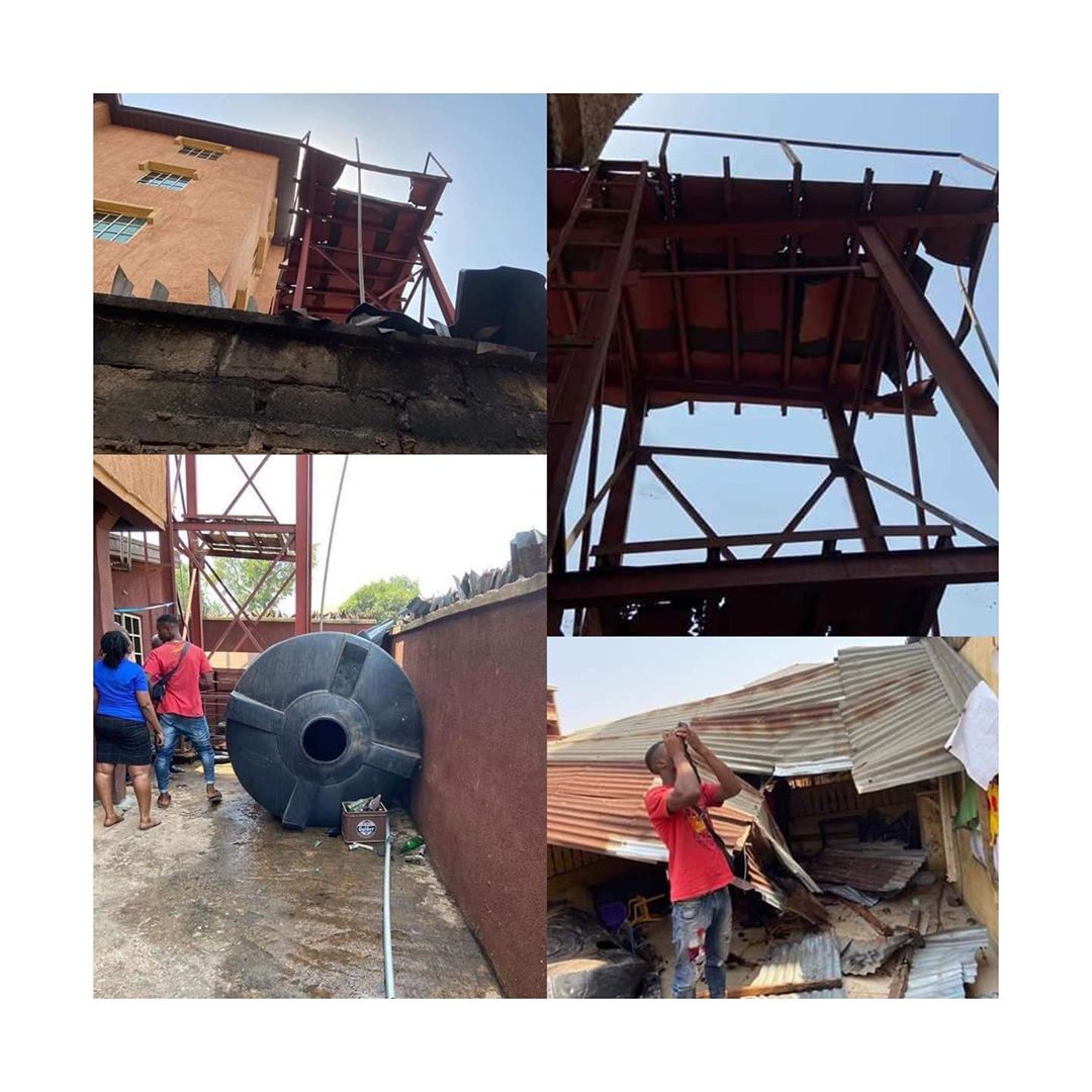 2 Students Killed, 2 Others Injured As Water Tank Falls In Anambra (Photo)