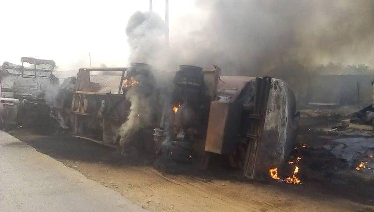 Tanker Explodes In Ogun, Leaves Three Burnt 3