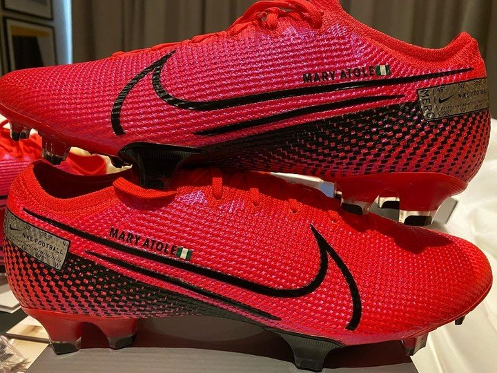 Ighalo Names New Boots After His Late Sister (Photos)