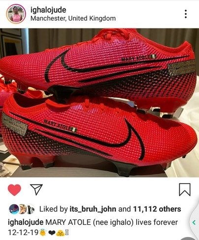 Odion Ighalo Names New Boots After His Late Sister (Photos) 5