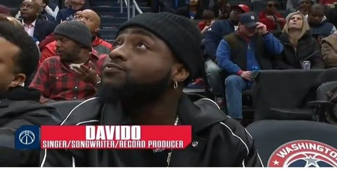 Davido Acknowledged During A Basketball Match In US, Americans React