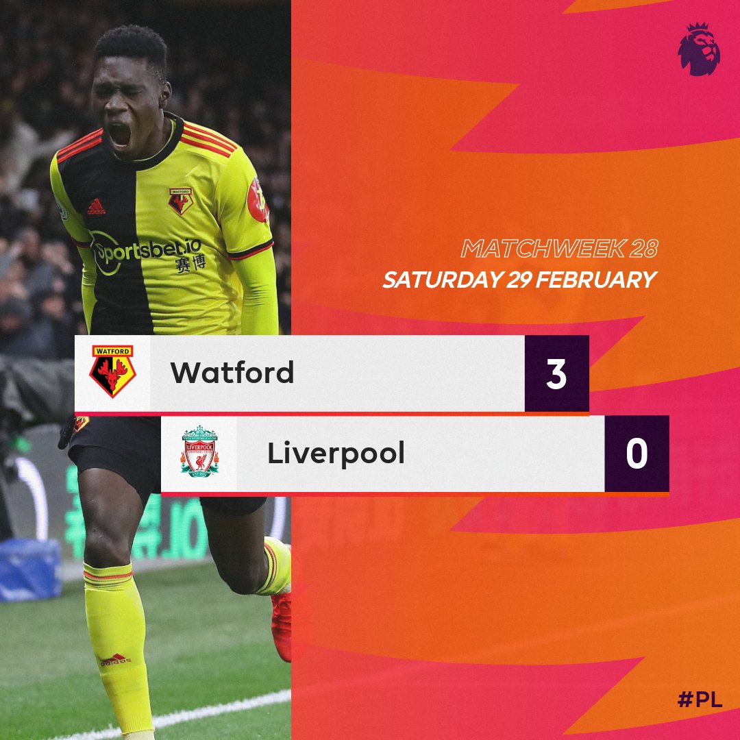VIDEO: Watford 3–0 Liverpool – Premier League Highlight