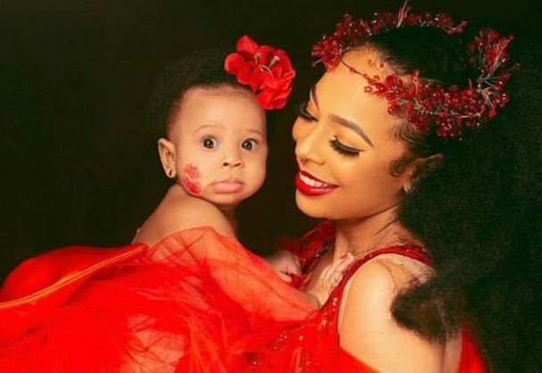 TBoss Finally Unveils Her Daughter's Face (Photo)