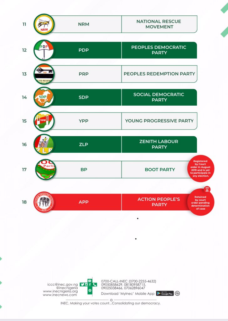 74 Political Parties Deregistered By INEC… See List Of The 18 Recognized Parties 8