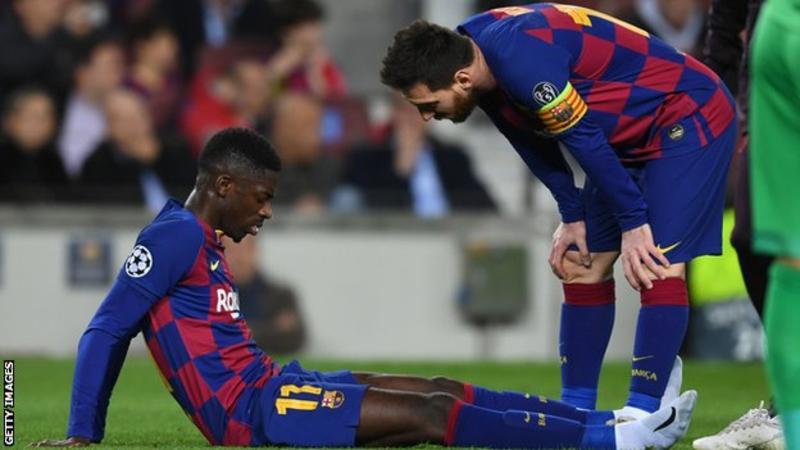 Ousmane Dembele Picks Up Injury During Training